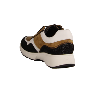 Xsensible Lima Caramel Combi (braun) - sportlicher Schnürschuh