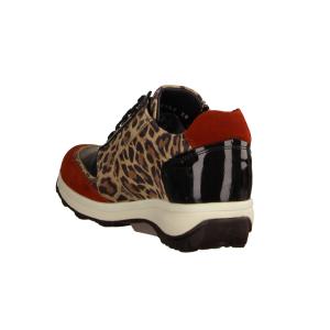 Xsensible Wembley Leopard Combi (braun) - sportlicher Schnürschuh