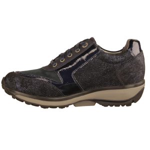 Xsensible Wembley Dark Blue Metallic (blau) - sportlicher Schnürschuh