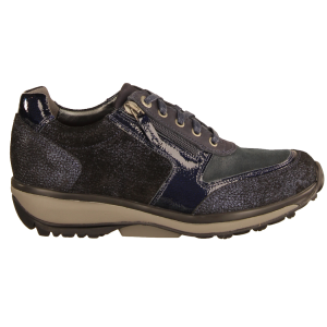 Xsensible Wembley Dark Blue Metallic - sportlicher Schnürschuh